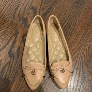 Michael Kors Tan Moccasin Leather Flats Size 5